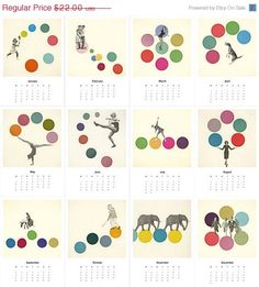 Love circles and dots (go to my blog http://imagesbyrosendal.com/ and you will see..). Beautiful and playful calendar.