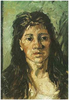 Vincent Van Gogh--Head of a Woman with her Hair Loose