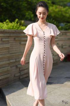 new Ideas for vintage fashion dresses classy Women's Dresses, Lovely Dresses, Simple Dresses, Dress Outfits, Dress Up, Summer Dresses, Pink Dress, Vestidos Vintage, Vintage Dresses