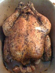 Whole Chicken in Pampered Chef Deep Covered Baker