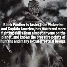Some Bad*ss Black Panther facts for ya but still can't beat deadpool!!