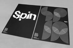 Double-sided posterfor Spin as part of the Visiting Lecture Programme (VLP). Screenprinted onto Somerset Black 280gsm.