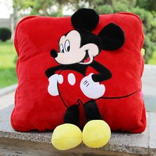 mickey mouse pillow fold blanket