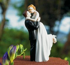 My favorite wedding cake topper, it is so romantic! :)