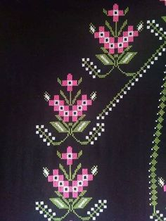 This Pin was discovered by Ayl Simple Cross Stitch, Cross Stitch Flowers, Easy Cross, Cross Stitch Designs, Cross Stitch Patterns, Palestinian Embroidery, Baby Knitting Patterns, Prayer Rug, Cross Stitch Embroidery