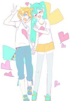 Imagen de miku, len, and len x miku