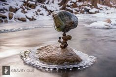 Michael Grab: rock stack with residual ice