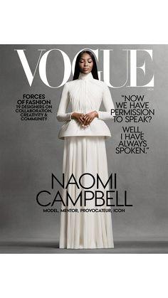 Vogue Covers, Vogue Magazine Covers, Fashion Magazine Cover, Fashion Cover, Fashion Now, Vogue Fashion, Lifestyle Fashion, Female Fashion, Naomi Campbell