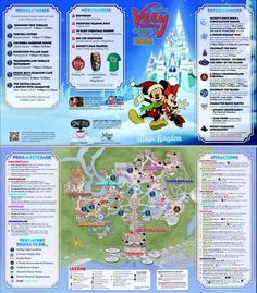 All about the holiday season at Disney World from WDWPrepSchool.com Map of Magic Kingdom during Mickey's Very Merry Christmas Party