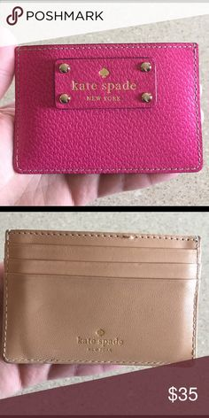 FLASH SALE ::   Kate spade card holder EXCELLENT CONDITION . Card side could be cleaned and you'd mistake it for new . Make an offer (: kate spade Bags Wallets