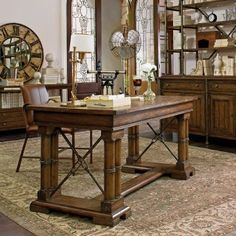 Gorgeous antique inspired office space.