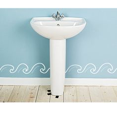 Bathroom Wall Decal Ocean Waves by luxeloft on Etsy, $15.00