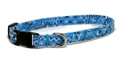 XS Dog Collar  Sky Blue Bandana  Size X Small by PawsnTails, $11.00