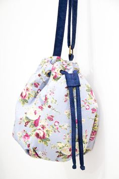 Bolsa Saco Azul-floral