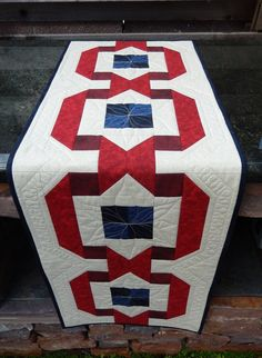 Patriotic Table Runner by ZanymouseCreations on Etsy