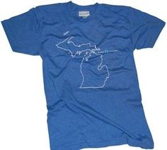 Pure Michigan shirt with state outline
