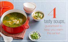 4 Healthy Soups : KIWI Magazine Online #winter #recipes #soup