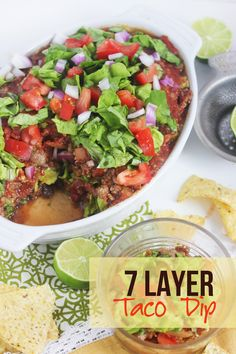 7 Layer Taco Dip! No cheese! Gluten-free, dairy-free, and delicious!