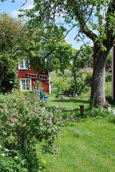 wilder garten Mera hemma n s hr kan det inte se ut fr mej, utan att vara det. Swedish Cottage, Red Cottage, Swedish House, Diy Garden, Dream Garden, Home And Garden, Design Jardin, Garden Design, Country Life