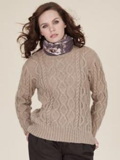 This traditional cable sweater will keep you cosy during the Winter months. Designed by Marie Wallin it uses Kid Classic
