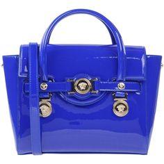 Versace Handbag (28 310 UAH) ❤ liked on Polyvore featuring bags, handbags, blue, versace purse, versace, versace handbags and versace bags