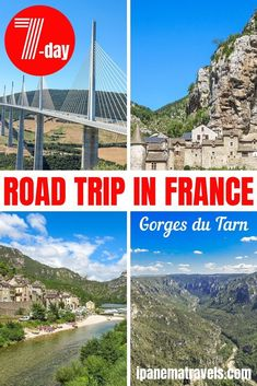 A itinerary for a road trip in the Gorges du Tarn, Southern France. Contains information about the places to see and things to do on this road trip. Europe Travel Guide, France Travel, Travel Guides, Travel Advice, Aquitaine, Corsica, Road Trip Hacks, Road Trips, European Road Trip