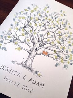 Extra Large Twisted Oak Design, The original hand-drawn guest book fingerprint tree (ink pads sold separately) via Etsy Wedding Tree Guest Book, Guest Book Tree, Wedding Book, Fall Wedding, Wedding Wall, Guest Books, Wedding Hands, Wedding Guest Activities, Twisted Oak