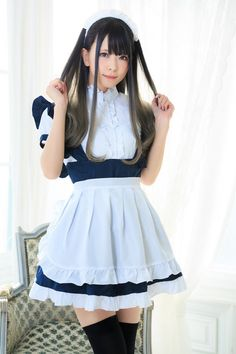 Kawaii Fashion, Girl Fashion, Fashion Outfits, French Maid Lingerie, Maid Cosplay, Pink Bridesmaid Dresses, Wedding Dresses, School Girl Outfit, Woman Drawing