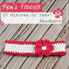 Mom's Favourite 20 Minute or Less Headband @OombawkaDesign