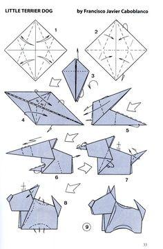 Neat little origami dog!!!! Bravo, Francisco Javier Caboblanco!
