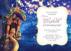 Rapunzel Tangled Birthday Invitation or cake idea Invitation Card Party, Photo Invitations, Birthday Invitation Templates, Birthday Party Invitations, Rapunzel Birthday Party, Tangled Party, 3rd Birthday Parties, Birthday Ideas