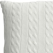 Cable Knitted Cushion 45 x 45cm - White