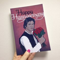Is your better half a #StarWars fan? If so celebrate your anniversary in true geeky style with this #HanSolo card from http://ift.tt/1ihQVKN // FREE uk shipping available // use code 10PLZ for 10% off until Christmas! #LaLaLandUK @LaLaLandUK #ShopLocal #ShopIndie