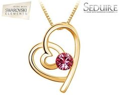 Adorn yourself with a modern and elegant fashion jewellery pedant with a gorgeous pink Swarovski Elements crystal at its centre.  Seduire Jewellery is known as the name for the most gorgeous piece of designer fashion jewellery. Each Seduire Jewellery piece features genuine Swarovski Elements crystals that perfectly accessorise your style and your outfits.