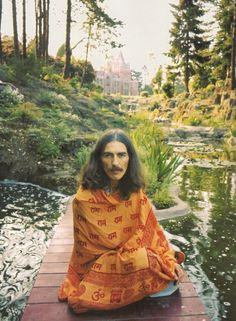 George Harrison at Friar Park, 1970s