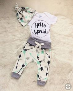 271cf5fde494 Baby Clothing baby boy coming home outfit hello world outfit  arrow  shirt arrow leggings baby leggings baby girl gender neutral outfit Baby  ClothingSource ...