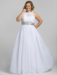 Adrianna Papell Beaded One Shoulder Gown Big beautiful curvy real ...