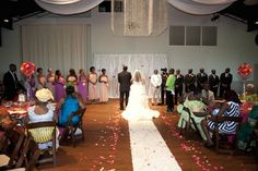 how to have a wedding ceremony and reception in the same venue | Ceremony + Reception Venue: Noah Liff Opera Center