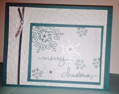Stampin' Up! Endless Wishes Christmas Card  www.allthingsstampin.blogspot.com #stampinup
