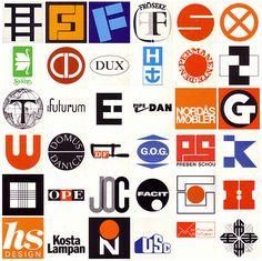 1960s & 1970s Scandinavian design logos