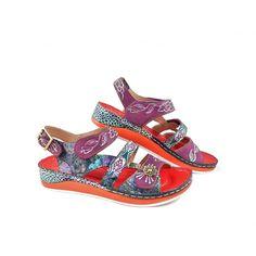 Laura Vita Bruel 06 Multi Strap Sandals in Red | rubyshoesday