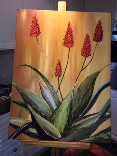 #Aloe - Oil on Canvas   -   Artist: Desire Hanekom