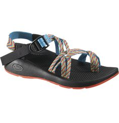Rainbow Chacos! These are my favorite shoes. Mine are all roughed up and dirty, but they are great for hiking AND chillin. Prime comfort