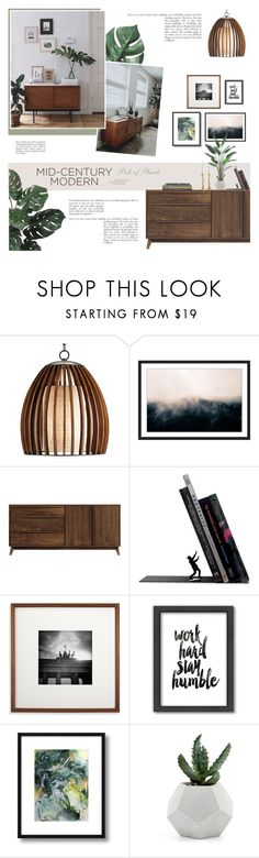 """""""Mid Century Modern - Pick of Plants"""" by anna-nemesis ❤ liked on Polyvore featuring interior, interiors, interior design, home, home decor, interior decorating, Copeland Furniture, Americanflat, Balenciaga and modern"""