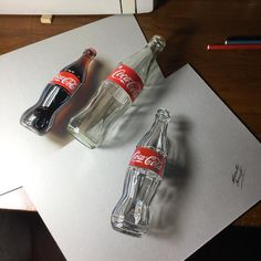 "Marcello Barenghi su Instagram: ""My #drawing of an empty #glassbottle of #cocacola. Drawing video: https://youtu.be/4LMMG1abVUQ?list=PLEKv0jWmqLM3uGkCTtLBn6Gof2WRe6n7Y #marcellobarenghi"""