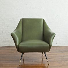Pair of Lounge Chairs by Gio Ponti | From a unique collection of antique and modern chairs at https://www.1stdibs.com/furniture/seating/chairs/