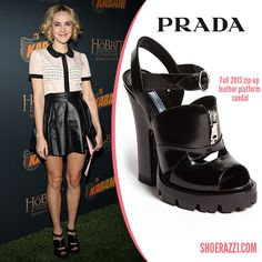 Prada-Fall-2013 -Leather Zip Sandal-
