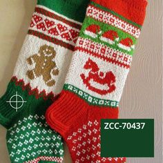 ZCC DIGITAL SWATCHES, ALWAYS THE SAME. Easy Knitting Patterns, Knitting Charts, Knitting Projects, Hand Knitting, Knitting Ideas, Knitting Socks, Crochet Patterns, Knitted Christmas Stocking Patterns, Knitted Christmas Stockings