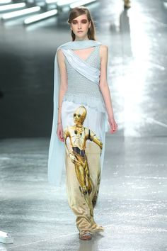 Pin for Later: The Fashion Force Is Strong with Star Wars Rodarte Autumn 2014 Rodarte printed Star Wars icons onto gowns for its Autumn 2014 collection.