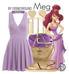 Meg by leslieakay ❤ liked on Polyvore featuring GUESS by Marciano, Longchamp, AX Paris, Kaanas, Kate Spade, disney, disneybound and disneycharacter